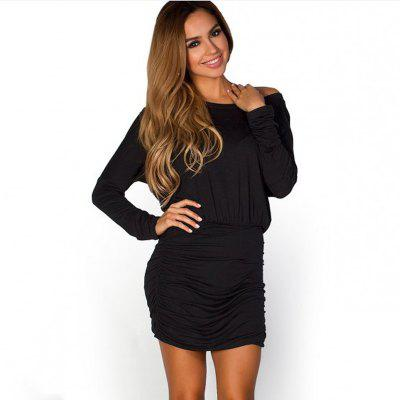 Fashionable Sexy Long-Sleeved Dress