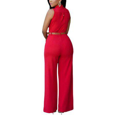 Womens Sleeveless Sash Buttons Jumpsuit PolyesterJumpsuits &amp; Rompers<br>Womens Sleeveless Sash Buttons Jumpsuit Polyester<br><br>Elasticity: Elastic<br>Embellishment: Adjustable Waist<br>Fabric Type: Poplin<br>Fit Type: Straight<br>Material: Polyester<br>Package Contents: 1 x Jumpsuit<br>Package weight: 0.3300 kg<br>Pattern Type: Solid<br>Style: Casual<br>With Belt: Yes