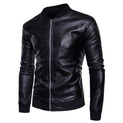 Mens Casual Stand Neck Long Sleeve Regular PU Jacket CoatMens Jackets &amp; Coats<br>Mens Casual Stand Neck Long Sleeve Regular PU Jacket Coat<br><br>Clothes Type: Leather &amp; Suede<br>Collar: Stand Collar<br>Fabric Type: Broadcloth<br>Material: Polyester, Faux Leather<br>Package Contents: 1 x Jacket<br>Season: Spring, Fall, Winter<br>Shirt Length: Regular<br>Sleeve Length: Long Sleeves<br>Style: Casual<br>Weight: 0.7400kg