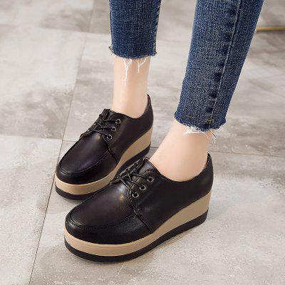 Women elevator Sport Walking Height Increase ShoesWomens Casual Shoes<br>Women elevator Sport Walking Height Increase Shoes<br><br>Available Size: 33-40<br>Closure Type: Lace-Up<br>Embellishment: None<br>Gender: For Women<br>Insole Material: Rubber<br>Occasion: Casual<br>Outsole Material: Rubber<br>Package Contents: 1?Shoes(pair)<br>Pattern Type: Others<br>Season: Summer, Spring/Fall, Winter<br>Shoe Width: Medium(B/M)<br>Toe Shape: Round Toe<br>Toe Style: Closed Toe<br>Upper Material: PU<br>Weight: 1.2000kg