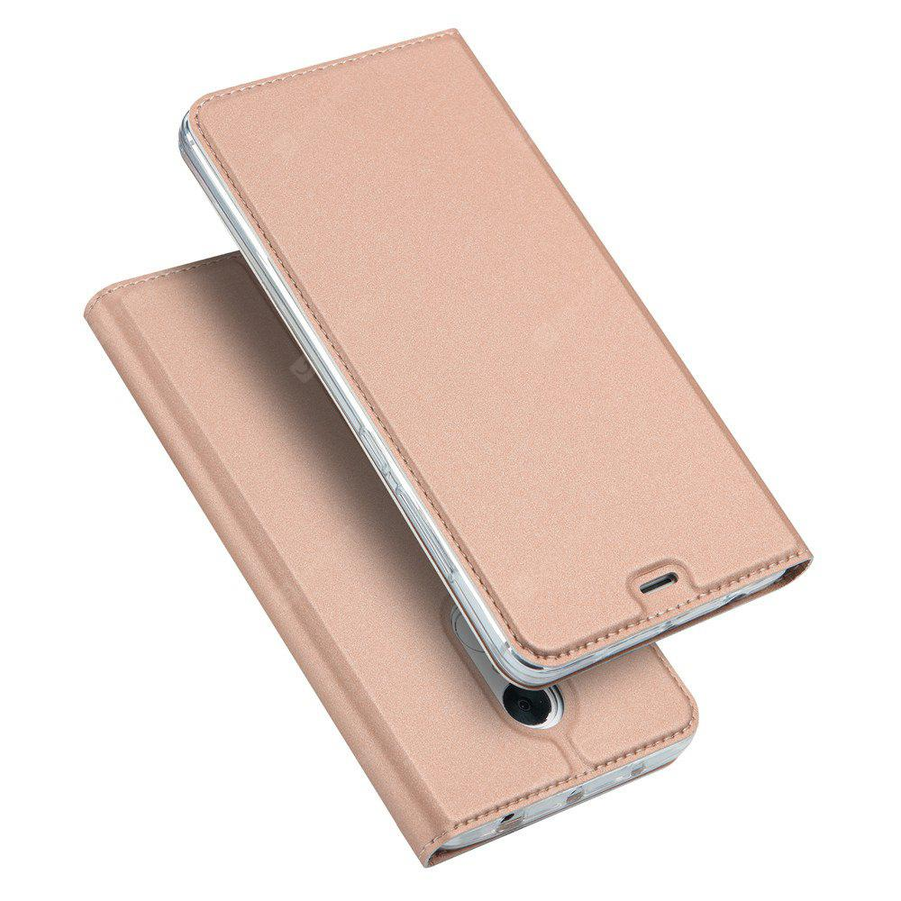 Card Holder Flip Magnetic Full Body Solid Color Hard PU Leather Case Cover for Redmi Note 4