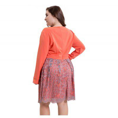 Womens Aline Dress Patchwork Long Sleeve Lace V Neck Plus Size Midi DressPlus Size Dresses<br>Womens Aline Dress Patchwork Long Sleeve Lace V Neck Plus Size Midi Dress<br><br>Dresses Length: Knee-Length<br>Elasticity: Elastic<br>Embellishment: Lace, Lace<br>Fabric Type: Broadcloth<br>Material: Lace, Polyester, Cotton<br>Neckline: V-Neck<br>Package Contents: 1 x Dress<br>Pattern Type: Print, Floral<br>Season: Spring, Winter, Fall, Summer<br>Silhouette: A-Line<br>Sleeve Length: Long Sleeves<br>Style: Casual<br>Waist: Natural<br>Weight: 0.5500kg<br>With Belt: No