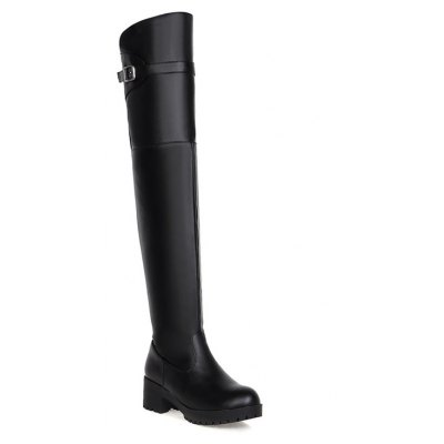 New Winter Boots Waterproof Knee Female with Thick Boots Female Leisure High Cylinder