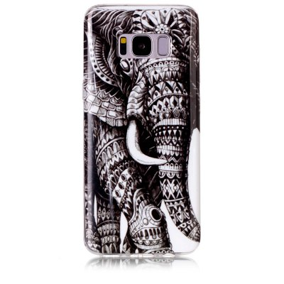 Buy GRAY Elephant Pattern Soft TPU Anti-scratch Back Cover Case for Samsung Galaxy S8 for $5.00 in GearBest store