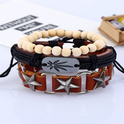 3Pcs Mens Bracelet Stylish All Match Leisure AccessoryMens Jewelry<br>3Pcs Mens Bracelet Stylish All Match Leisure Accessory<br><br>Gender: Unisex<br>Occasion: Party<br>Package Contents: 3 x Bracelets<br>Package size (L x W x H): 13.00 x 8.00 x 9.00 cm / 5.12 x 3.15 x 3.54 inches<br>Package weight: 0.0300 kg