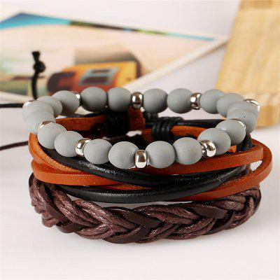 MensBraceletSetBeads Fashionable AccessoryMens Jewelry<br>MensBraceletSetBeads Fashionable Accessory<br><br>Gender: Unisex<br>Metal Type: Others<br>Occasion: Party<br>Package Contents: 3 x Bracelets<br>Package size (L x W x H): 13.00 x 8.00 x 9.00 cm / 5.12 x 3.15 x 3.54 inches<br>Package weight: 0.0300 kg<br>Style: Punk