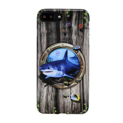 For iPhone 8 Plus / 7 Plus Case New Shark Pattern Back Cover Cartoon Soft TPU Mobile Phone Back Shell