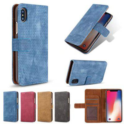 Pour l'iPhone X Couverture Case Style Mesh Flip Wallet