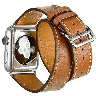 42mm Genuine Leather Strap Bracelet Replacement Wrist Band With Adapter Clasp for iWatch Series 3  2  1