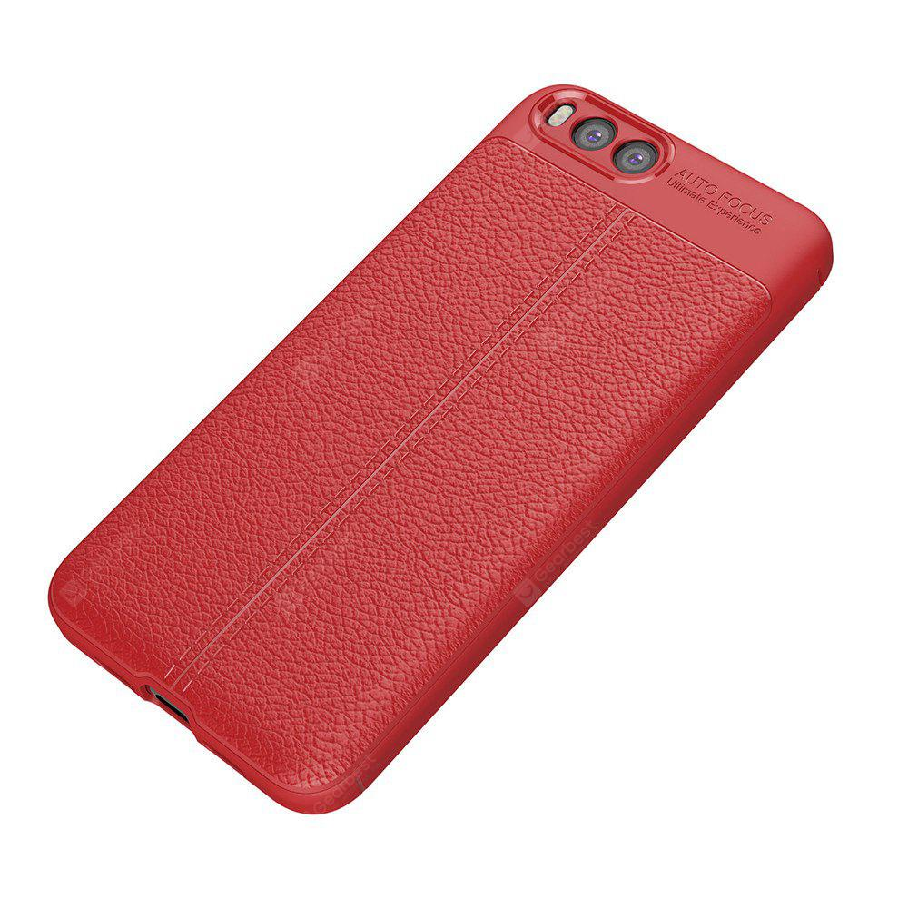 Luxury Leather Business Litchi Pattern PU Soft TPU Cover Case for Xiaomi 6