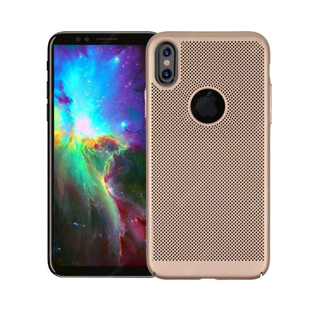 Para iPhone X Case Cover Frosted Back Solid Color Hard PC