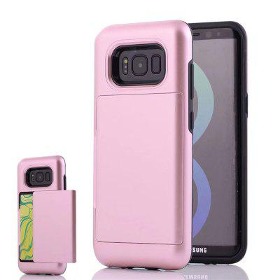 Armure Cas Couverture Carte Poche Dur PC Soft TPU De Protection Fundas pour Samsung Galaxy S8 Plus