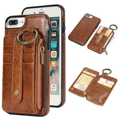 Waist Zipper Type Wallet Leather Case for iPhone 7 Plus / 8 Plus