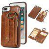 Waist Zipper Type Wallet Leather Case for iPhone 7 Plus / 8 Plus - LIGHT BROWN