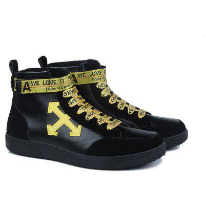 Autumn and Winter High-Top Fashion Personality with MenS ShoesCasual Shoes<br>Autumn and Winter High-Top Fashion Personality with MenS Shoes<br><br>Available Size: 39-44<br>Closure Type: Lace-Up<br>Embellishment: Letter<br>Gender: For Men<br>Outsole Material: Rubber<br>Package Contents: 1xShoes(pair)<br>Pattern Type: Others<br>Season: Spring/Fall<br>Toe Shape: Round Toe<br>Toe Style: Closed Toe<br>Upper Material: PU<br>Weight: 1.2800kg
