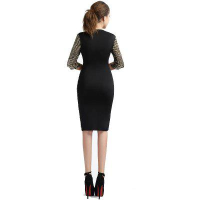 Golden Sequin  Bodycon Women Geometric Lace  Sexy  Sheath Shift Half Sleeve Slim Club DressBodycon Dresses<br>Golden Sequin  Bodycon Women Geometric Lace  Sexy  Sheath Shift Half Sleeve Slim Club Dress<br><br>Dresses Length: Knee-Length<br>Elasticity: Elastic<br>Embellishment: Sequins<br>Fabric Type: Worsted<br>Material: Polyester<br>Neckline: Round Collar<br>Package Contents: 1 x Dress<br>Pattern Type: Solid<br>Season: Spring, Fall<br>Silhouette: Sheath<br>Sleeve Length: Half Sleeves<br>Style: Sexy &amp; Club<br>Weight: 0.3500kg<br>With Belt: No