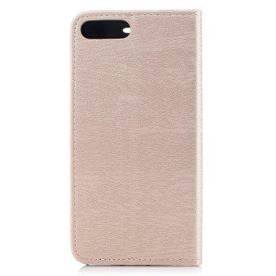 Wood Texture PU Leather Wallet Stand Case with Magnetic Flap for iPhone 7 Plus / 8 Plus wkae forest series colorful paiting litchi texture premium pu leather horizontal flip stand wallet case cover with card slots for iphone 7 plus and 8 plus