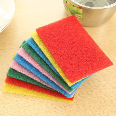 DIHE Scouring Pad Wash The Dishes Cleaner Multicolor 10PCS