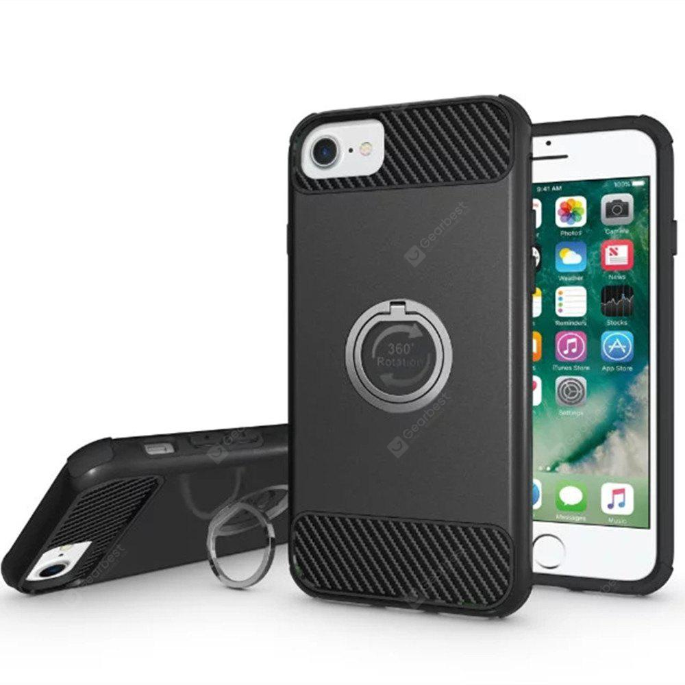 Shockproof Ring Holder Back Cover Hard PC Case for iPhone 8 / 7 / 6 / 6s