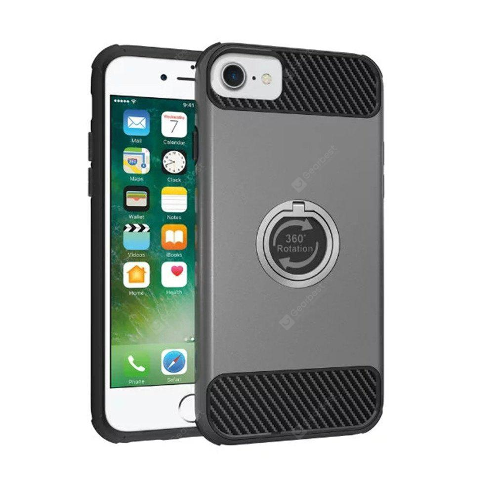 Antichoc Holder Back Cover Hard Case PC pour iPhone 8/7/6 / 6s