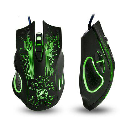 Colorful Breathing Lights Actually Wired Gaming Mouse X9 Computer Peripheral Glare
