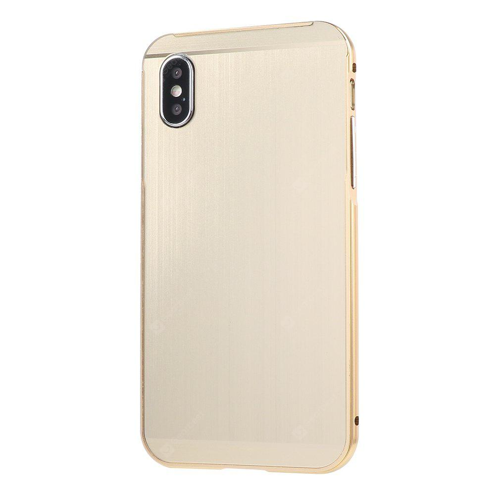 Wire Drawing Metal Frame Mobile Phone Shell para iPhone X