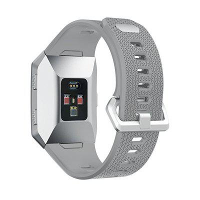Silicone Sport Strap with Stainless Steel Metal Clasp for Fitbit IonicSmart Watch Accessories<br>Silicone Sport Strap with Stainless Steel Metal Clasp for Fitbit Ionic<br><br>Package Contents: 1 x Watch Band With Adapter<br>Package size: 15.00 x 6.00 x 1.00 cm / 5.91 x 2.36 x 0.39 inches<br>Package weight: 0.0190 kg<br>Product size: 12.00 x 3.00 x 1.00 cm / 4.72 x 1.18 x 0.39 inches<br>Product weight: 0.0180 kg