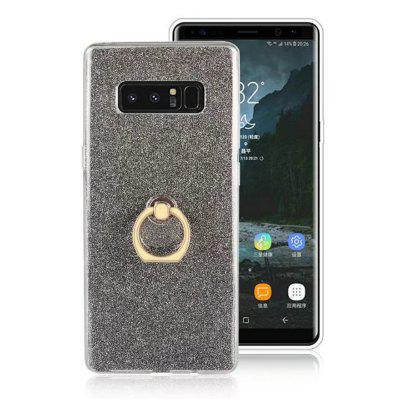Luxe Glitter TPU Titulaire Flash Poudre Anneau Doigt Boucle Stent Cover pour Samsung Galaxy Note 8 Cas
