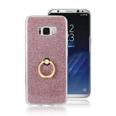 For Samsung Galaxy S8 Case Luxury Glitter TPU Holder Flash Powder Ring Finger Buckle Stent Cover