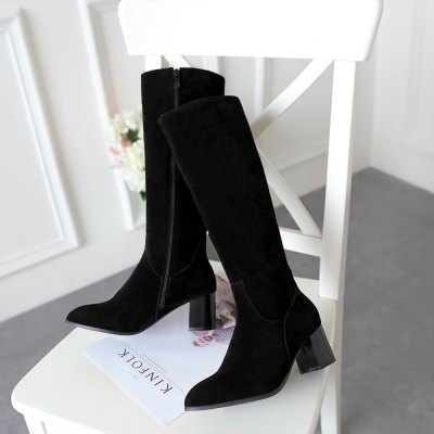 Womens Boots Side Zipper Top Fashion ShoesWomens Boots<br>Womens Boots Side Zipper Top Fashion Shoes<br><br>Boot Height: Knee-High<br>Boot Type: Work &amp; Safety<br>Closure Type: Zip<br>Gender: For Women<br>Heel Type: Chunky Heel<br>Package Contents: 1 x Shoes(pair)<br>Pattern Type: Solid<br>Season: Winter<br>Toe Shape: Pointed Toe<br>Upper Material: Flock<br>Weight: 1.7732kg