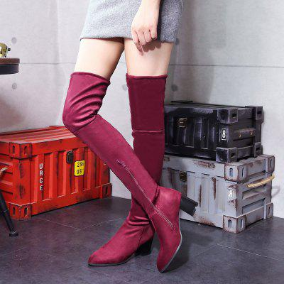 Women Winter Leather Fashion Sexy Warm Knee High BootsWomens Boots<br>Women Winter Leather Fashion Sexy Warm Knee High Boots<br><br>Boot Height: Over-the-Knee<br>Boot Type: Fashion Boots<br>Closure Type: Zip<br>Gender: For Women<br>Heel Type: Low Heel<br>Package Contents: 1 x Shoes?pair?<br>Pattern Type: Solid<br>Season: Winter<br>Toe Shape: Pointed Toe<br>Upper Material: Flock<br>Weight: 1.7732kg