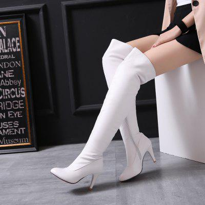 Womens Trend Above Knee Boots Sexy High Heel BootsWomens Boots<br>Womens Trend Above Knee Boots Sexy High Heel Boots<br><br>Boot Height: Over-the-Knee<br>Boot Type: Fashion Boots<br>Closure Type: Zip<br>Gender: For Women<br>Heel Type: Kitten Heel<br>Package Contents: 1 x Shoes?pair?<br>Pattern Type: Solid<br>Season: Winter<br>Toe Shape: Pointed Toe<br>Upper Material: PU<br>Weight: 1.8304kg