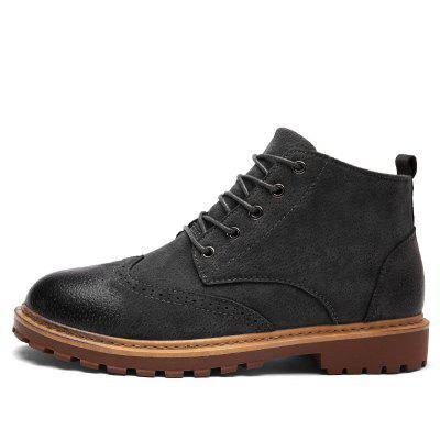 "Martin Male Retro Bullock Tide British High-Top Leather BootsMens Boots<br>Martin Male Retro Bullock Tide British High-Top Leather Boots<br><br>Boot Height: Ankle<br>Boot Type: Fashion Boots<br>Closure Type: Lace-Up<br>Embellishment: None<br>Gender: For Men<br>Heel Hight: Low(0.75""-1.5"")<br>Heel Type: Low Heel<br>Outsole Material: Rubber<br>Package Contents: 1 xshoes?pair?<br>Pattern Type: Solid<br>Season: Summer, Winter, Spring/Fall<br>Toe Shape: Round Toe<br>Upper Material: PU<br>Weight: 1.3376kg"