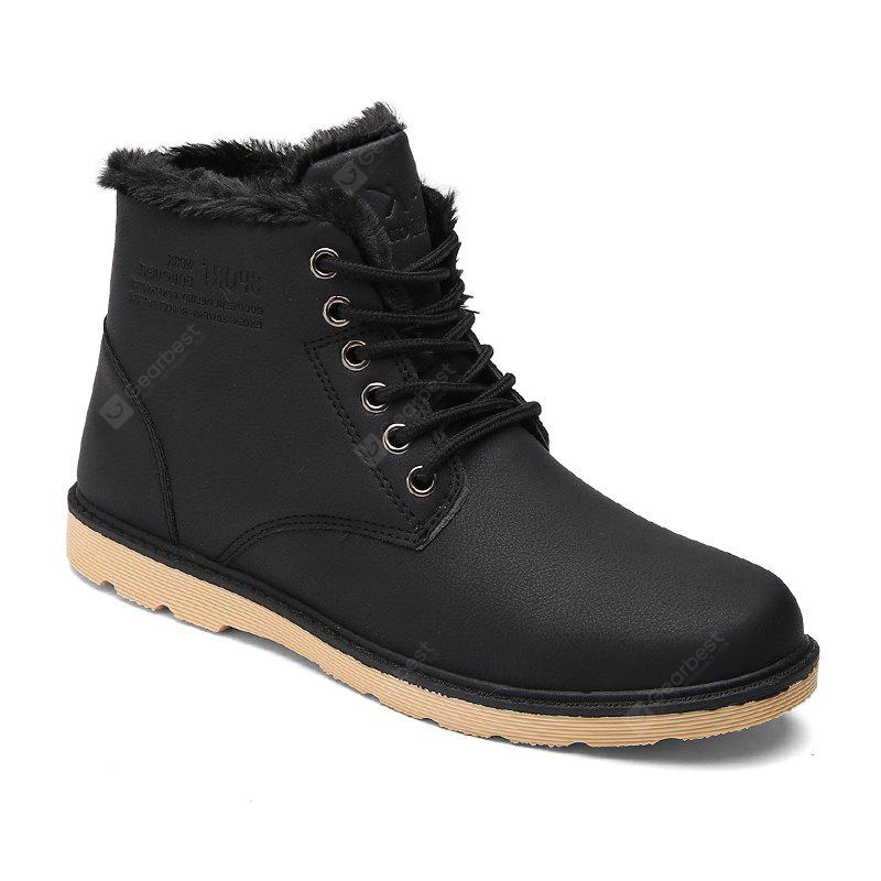 Buy Men's Boots Warm Casual Stylish 40 BLACK at GearBest ...