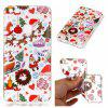 Cartoon Christmas Element Phone Shell Clear Soft Flexible Tpu Gel Slim Back Case Cover for Huawei P10 Lite - RED