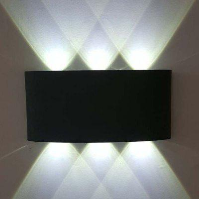 Buy COOL WHITE LIGHT Jiawen 6W Aluminum LED Wall Light Bedside Bedroom Porch Stair Lamp AC 85 265V for $24.22 in GearBest store