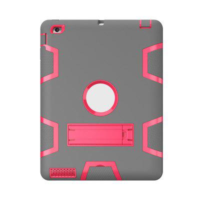 Armor Shockproof Heavy Duty Silicon   PC Stand Back Case Cover for iPad 2   3   4
