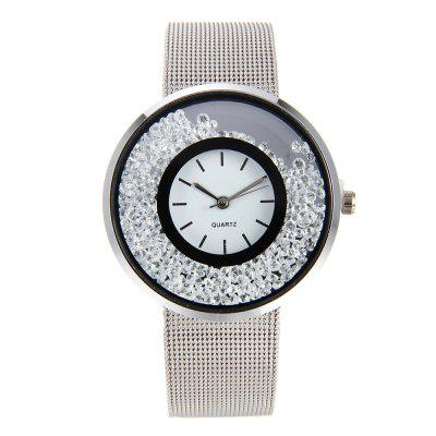 Fashion Stainless Steel Watch for Women Quartz Analog Wrist Watch