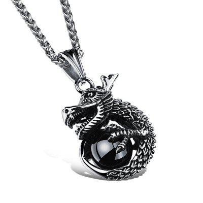 Vintage silver charm dragon design pendant necklace for man rock vintage silver charm dragon design pendant necklace for man rock 316l stainless steel mens jewelry link aloadofball Images