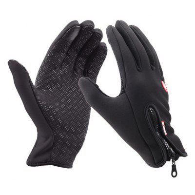 Unisex Cold Weather Fleece Windproof Winter Touch Screen Gloves for Smart Phone