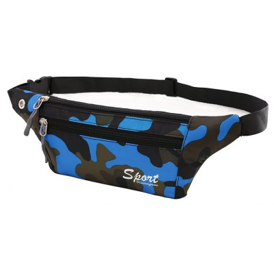 Blue Outdoor Sporting Casual Wasit Pack Bag