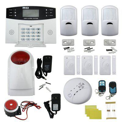 9100-A Quad-Band GSM SMS Home Burglar Security Alarm System Detector Sensor Kit / Remote Control