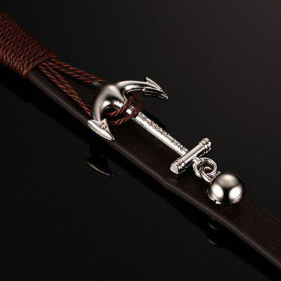 Anchor Woven Multi-layer Accessories Leather Rope Jewelry BraceletMens Jewelry<br>Anchor Woven Multi-layer Accessories Leather Rope Jewelry Bracelet<br><br>Closure Type: Double safety clasps<br>Gender: For Men<br>Item Type: Bangle<br>Metal Type: Stainless Steel<br>Package Contents: 1 x Bracelet<br>Package size (L x W x H): 5.00 x 5.00 x 0.50 cm / 1.97 x 1.97 x 0.2 inches<br>Package weight: 0.1080 kg<br>Shape/Pattern: Anchor<br>Style: Punk