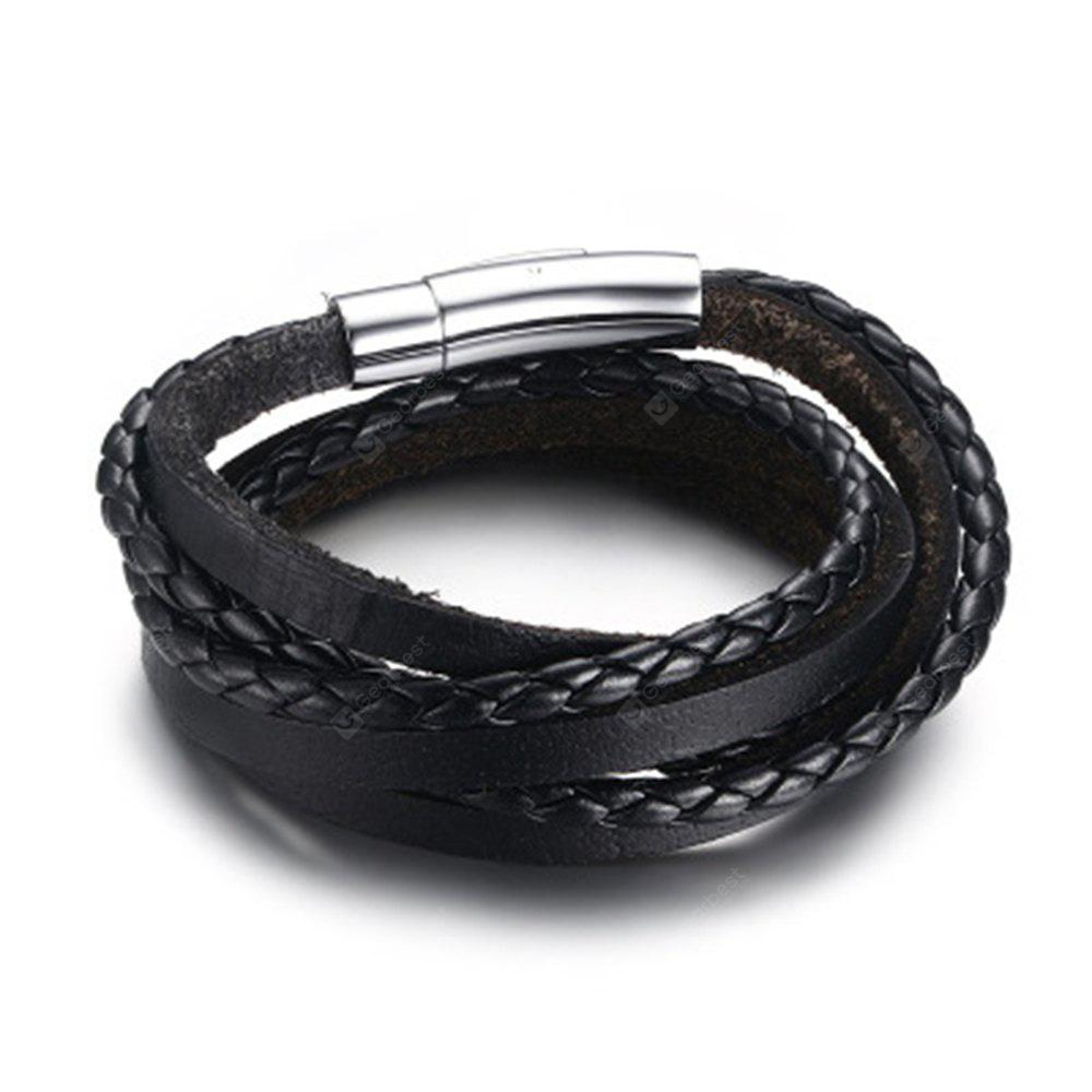 htm larger double blk bracelet g lucky rope blr leather p dog black photo view braided wrap