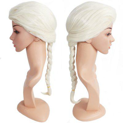 Long Braided Ponytail Women Wig for Cosplay Costume Hair Party Wedding and Daily Use with Free Wig Cap Snow White free shipping kill la kill ryuko matoi 35cm length wig cosplay wigs for costume