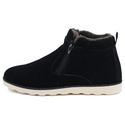 Lover Casual New Trend for Fashion Outdoor Slip on Suede Rubber Flat Boots полуботинки on