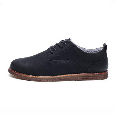 Men Casual New Trend for Fashion Outdoor Suede Rubber Flat Leather ShoesCasual Shoes<br>Men Casual New Trend for Fashion Outdoor Suede Rubber Flat Leather Shoes<br><br>Available Size: 39-44<br>Closure Type: Lace-Up<br>Embellishment: None<br>Gender: For Men<br>Outsole Material: Rubber<br>Package Contents: 1?Shoes(pair)<br>Pattern Type: Solid<br>Season: Winter<br>Toe Shape: Round Toe<br>Toe Style: Closed Toe<br>Upper Material: Leather<br>Weight: 1.2000kg