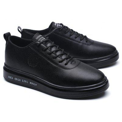 Men Casual New Outdoor Trend for Fashion Lace Up Rubber Flat Leather ShoesCasual Shoes<br>Men Casual New Outdoor Trend for Fashion Lace Up Rubber Flat Leather Shoes<br><br>Available Size: 39-44<br>Closure Type: Lace-Up<br>Embellishment: None<br>Gender: For Men<br>Outsole Material: Rubber<br>Package Contents: 1?Shoes(pair)<br>Pattern Type: Solid<br>Season: Winter, Spring/Fall<br>Toe Shape: Round Toe<br>Toe Style: Closed Toe<br>Upper Material: Leather<br>Weight: 1.2000kg