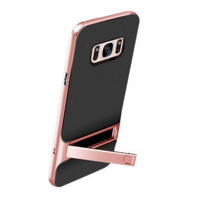 Shockproof Stand Back Cover Solid Color Hard PC + TPU Case for Samsung Galaxy S8 PlusSamsung S Series<br>Shockproof Stand Back Cover Solid Color Hard PC + TPU Case for Samsung Galaxy S8 Plus<br><br>Compatible with: Samsung Galaxy S8 Plus<br>Features: Back Cover, Cases with Stand, Anti-knock<br>For: Samsung Mobile Phone<br>Material: PC, TPU<br>Package Contents: 1 x Phone Case<br>Package size (L x W x H): 20.00 x 11.50 x 1.00 cm / 7.87 x 4.53 x 0.39 inches<br>Package weight: 0.0280 kg<br>Style: Fashion, Contrast Color