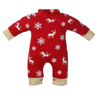 infant baby girl boy romper jumpsuit playsuit outfits christmas pajamas